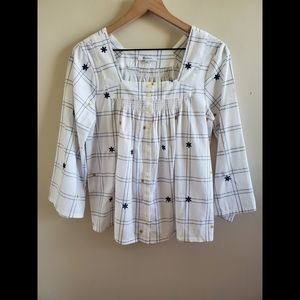 Madewell Floral Button Front Blouse Size Small